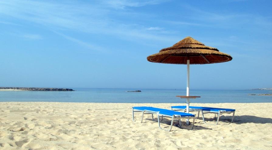 Ayia Thekla Beach in Ayia Napa