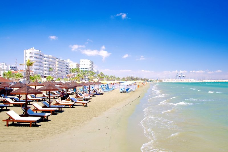Finikoudes Beach in Larnaka Travel Guide