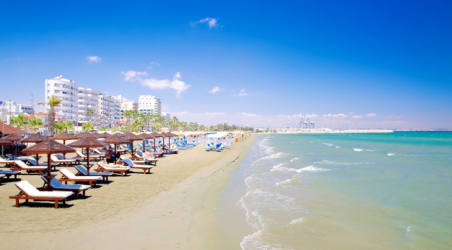 Finikoudes Beach in Larnaca best beaches