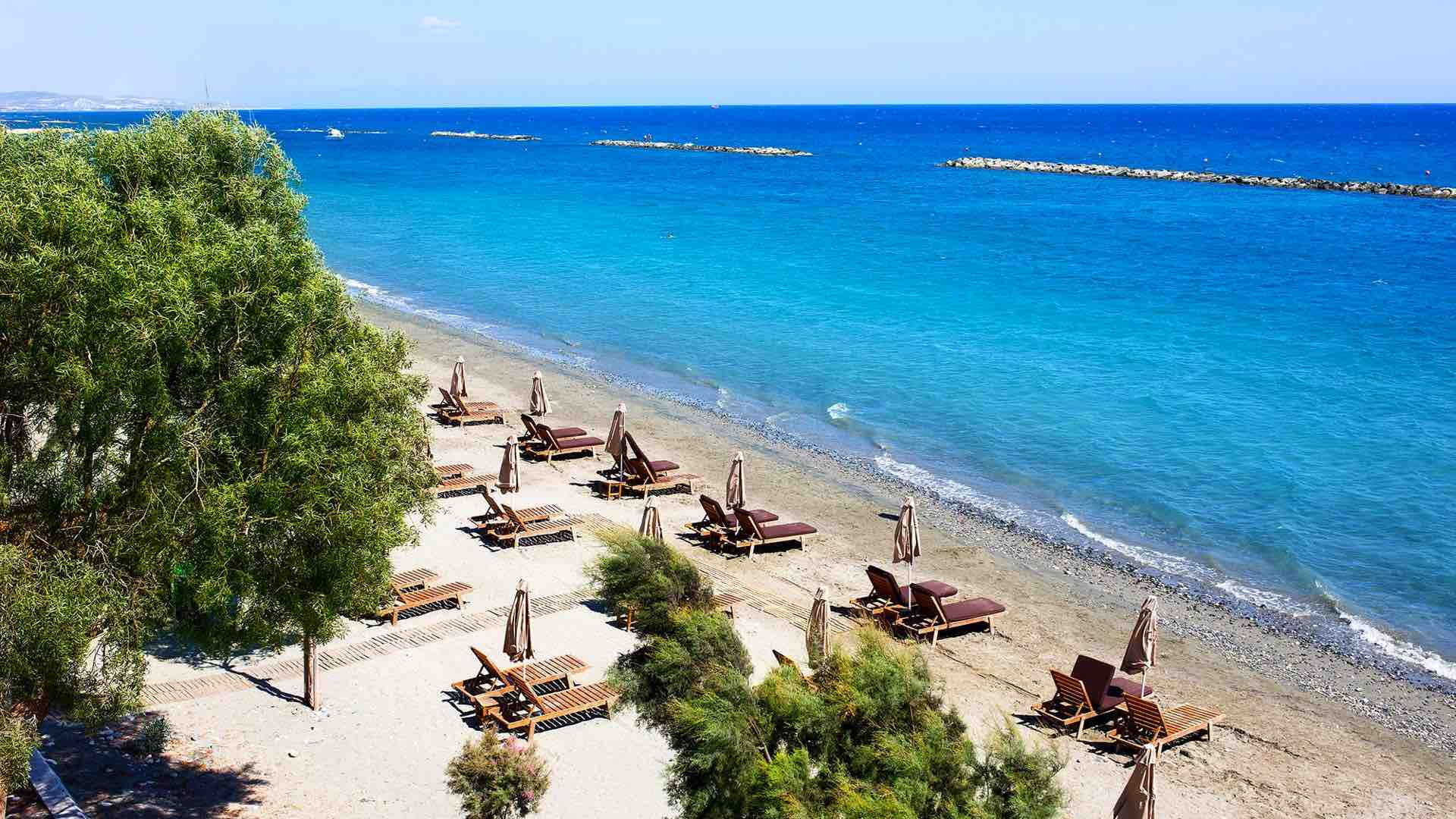 Akti Olympion Beach in Limassol best beaches